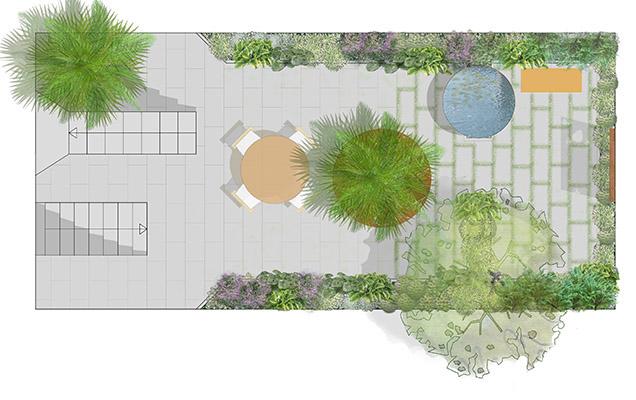 Progetti architettura del paesaggio - Giardino in ombra ...